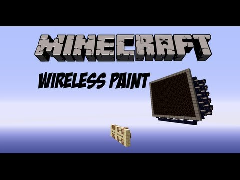 Minecraft - Wireless Paint with Command Blocks and Scoreboards!