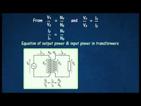 [3.5] Conservation of energy in transformers