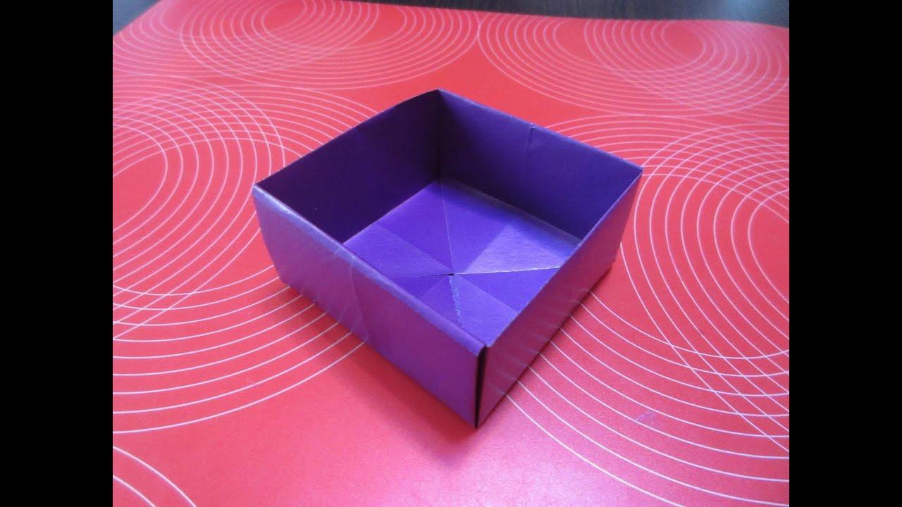 Как сделать коробочку легко из бумаги
