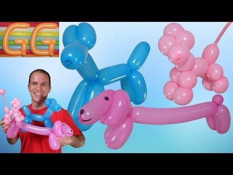 como hacer un perro con un globo - globoflexia perro - como hacer perritos con globos