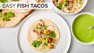 EASY FISH TACOS | with BEST fish taco sauce