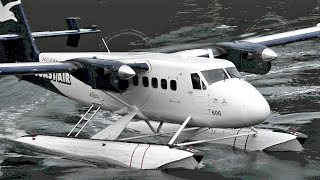 DHC-6 Twin Otter Engine Start Up and Takeoff