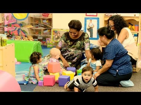 First Lady Michelle Obama Unveils Lets Move! Child Care