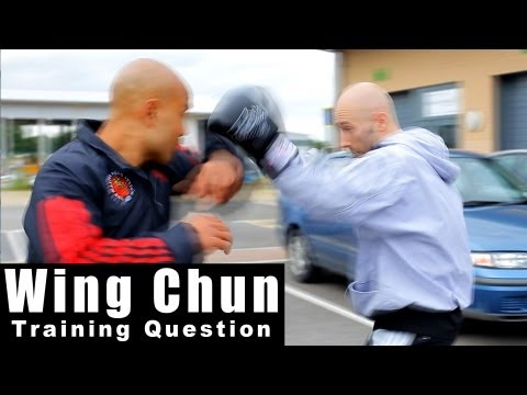wing chun techniques - how you can deal with a boxers jab hook. Q37 Image 1