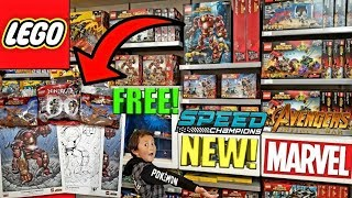 LEGO!!! The MARVEL AVENGERS INFINITY WAR Movie TOY Premiere! Shopping At The LEGO STORE! Free Stuff!