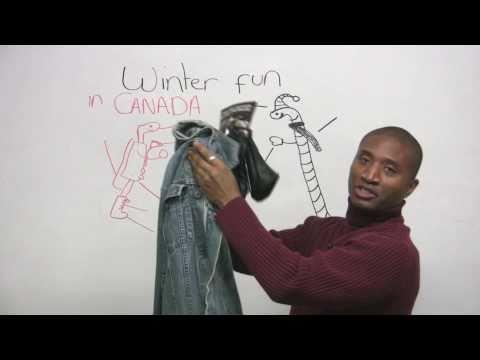 English Vocabulary – Winter Clothing