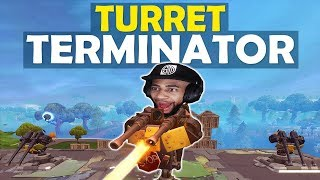 TURRET TERMINATOR | DAEQUAN JUMP SCARE | BUILD BATTLE - (Fortnite Battle Royale)