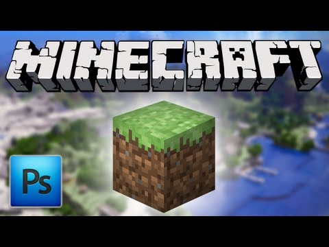 PHOTOSHOP &#8211; Tutorial Icona Minecraft