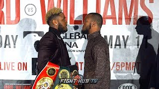 JARRETT HURD VS JULIAN WILLIAMS FACE-OFF, HURD SMILES WITH CONFIDENCE