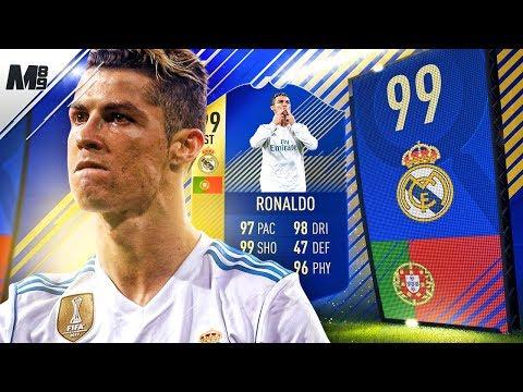 FIFA 18 TOTS RONALDO REVIEW | 99 TOTS ST RONALDO PLAYER REVIEW | FIFA 18 ULTIMATE TEAM