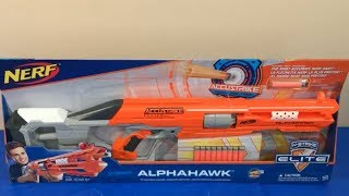 Box of Toys Toy Guns NERF Guns AccuStrike Series AlphaHawk New Toy Opening
