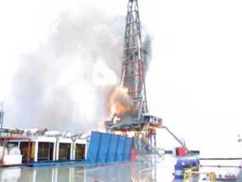Fire in Oil Tower 10