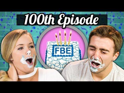 100TH EPISODE!  ICE CREAM CAKE CHALLENGE!  College Kids Vs Food