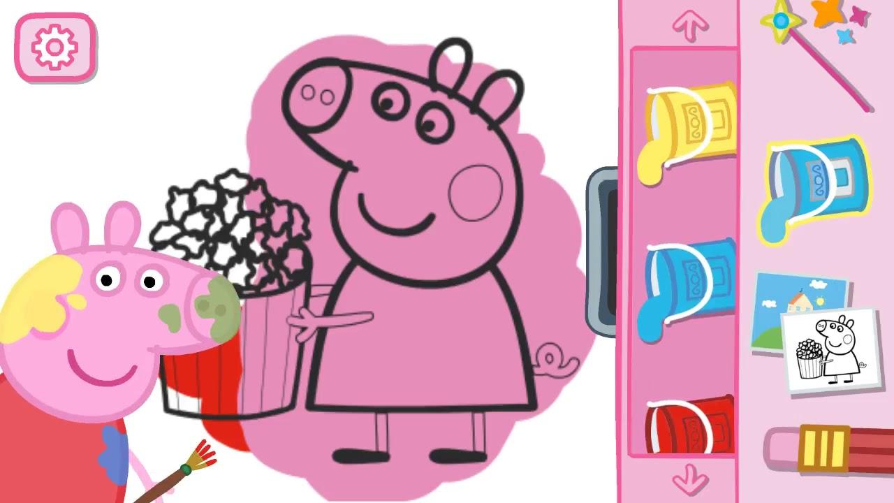 Игры свинка пеппа играть бесплатно в раскраски