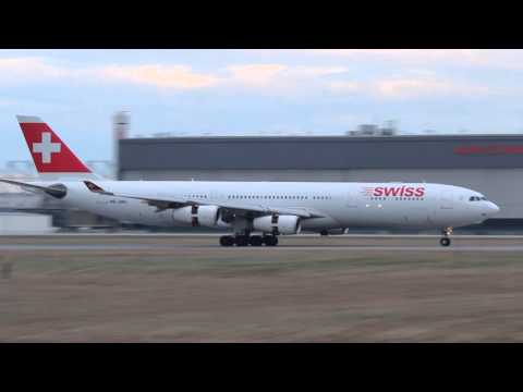 !!Extremely Rare!! Swiss Airbus A340-313X landing at Montreal/Yul Airport