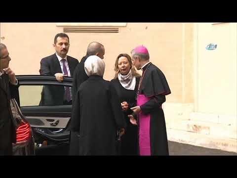 Cumhurbaşkanı Erdoğan Vatikan'da Resmi Törenle Karşılandı