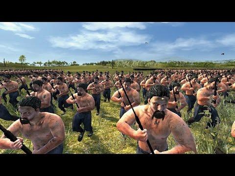 5000 Crossbows vs 2000 Falxmen Attila Total War