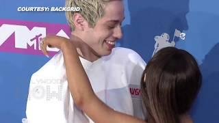 MTV VMAS 2018 | Ariana Grande KISSES And RUNS AWAY With Fiance Pete Davidson