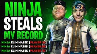 NINJA STEALS MY KILL RECORD!! W/ NINJA, DRLUPO & MONSTCR - Fortnite Battle Royale