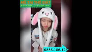 Nón tai thỏ cử động 2 tai tại page Mũ tai thỏ giật - korea Liniana
