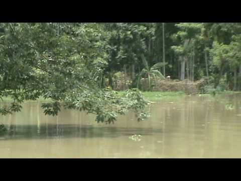 Submerged School in a Flood Affected Village in Assam - June 2010 - Video 11.mpg