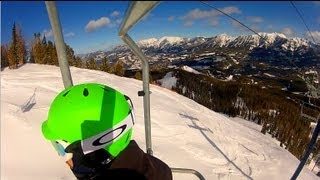 Moonlight Basin and Big Sky Montana Ski Trip Highlights 2013...