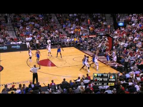 Golden State Warriors vs Portland Trail Blazers 4th Quarter and OT Highlights, EPIC Game - April 14