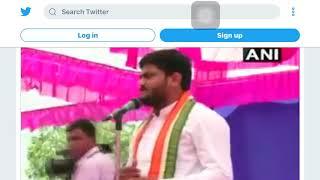 #WATCH Congress leader Hardik Patel slapped during a rally in Surendranagar,Gujarat