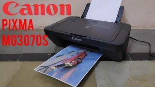 01. Canon PIXMA MG3070S wireless Inkjet colour printer unboxing, setup and print