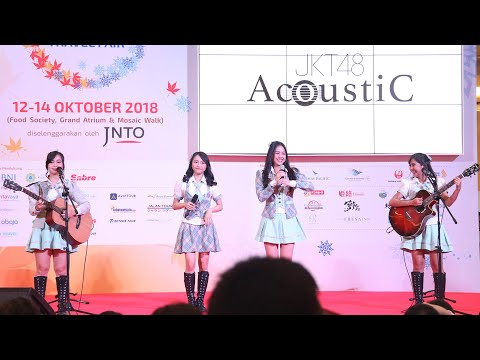JKT48 Acoustic Live Perform Lantang Japan Travel Fair Kota Kasablanka