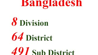 Bangladesh - Divisions and Districts