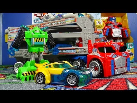 Optimus Prime Rescue Trailer Transformers Rescue Bots From Hasbro Playskool
