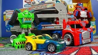Download Optimus Prime Rescue Trailer Transformers Rescue Bots From Hasbro Playskool 3Gp Mp4
