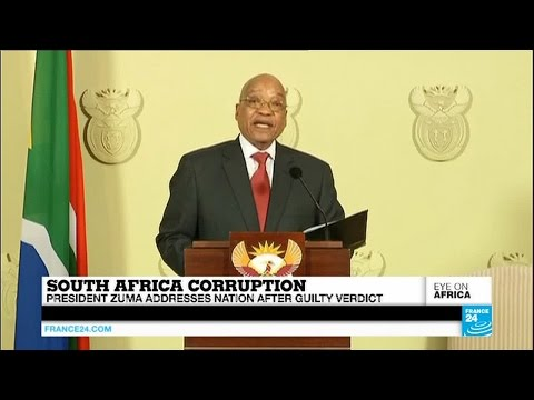 President Jacob Zuma addresses the nation after guilty verdict