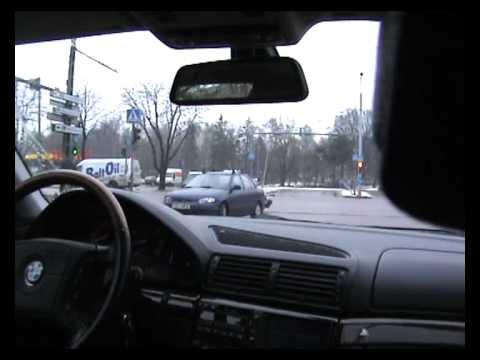 bmw 750 e38 cold start. city drive