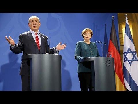 Merkel calls for calm in Middle East; Netanyahu blames unrest on Palestinians