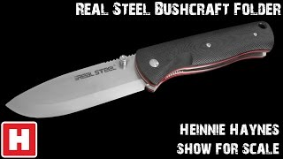 Real Steel Bushcraft Folder - Show for Scale Overview