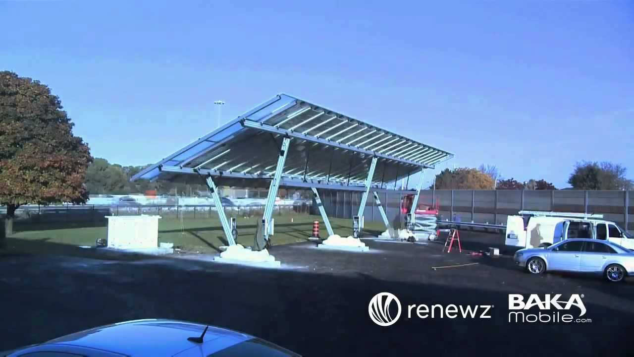 Charging Electric Car With Solar Power