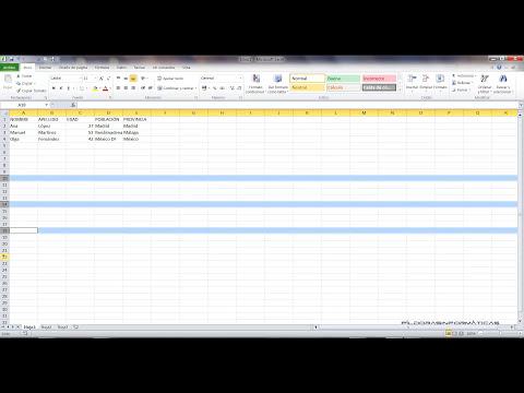 Curso Excel 2010 Básico. Video 3. Selecciones y datos I