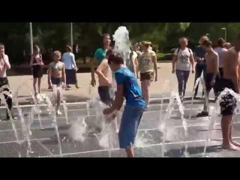 15.06.2015. Киров ,парк Победы,фонтан,дети