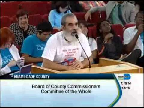 Watch the clip from the Miami-Dade County Commission meeting