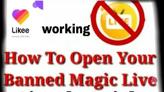 How to open banned live / on likee / app