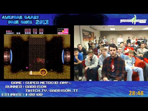 Super Metroid - Speed Run in 0:49:35 by Garrison Live for Awesome Games Done Quick 2013