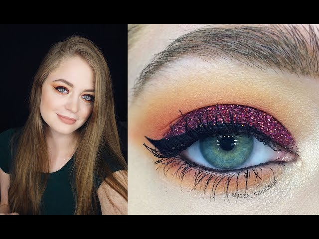 Новогодний макияж: красные блестки: видео-урок пошагово