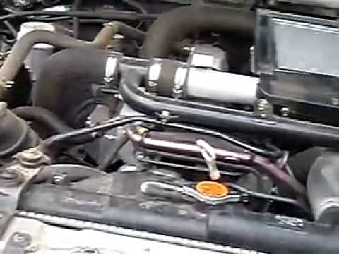2006 Mitsubishi Triton 2.8 litre turbo diesel engine running