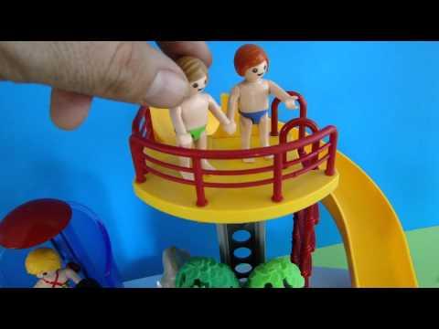Playmobil piscine avec toboggan for Playmobil piscine toboggan