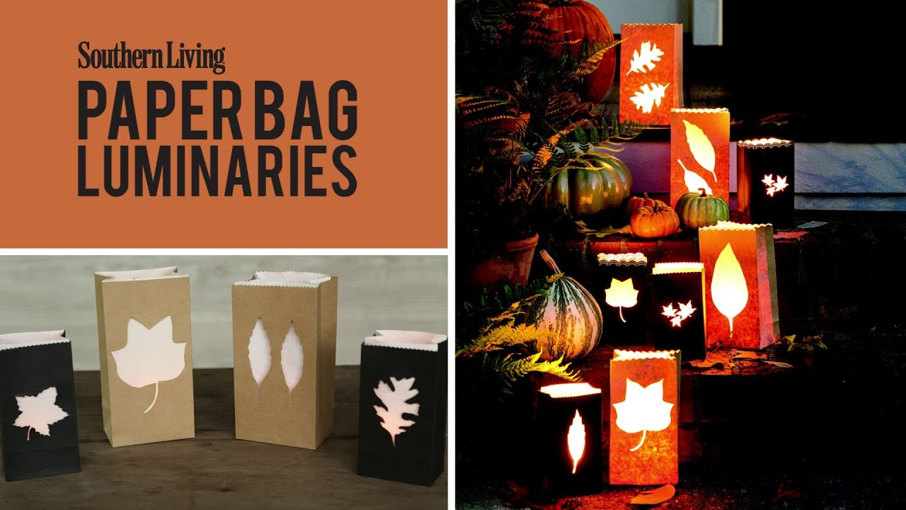 How to make paper bag luminaries easy halloween fall for Southern living login
