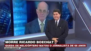 Ricardo Boechat morre em queda de helicóptero em SP