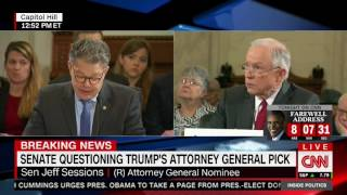 Al Franken calls Jeff Sessions a liar