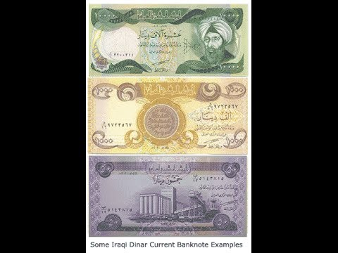 iraqi dinar revaluation in 2014 at 1.134$ with proof - YouTube